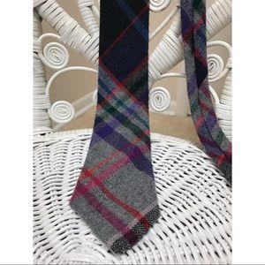 Vintage Men's Boston Harbor Tartan Necktie